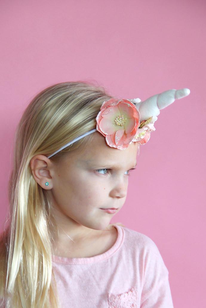 Unicorn Headband, tutorial via Me Sew Crazy