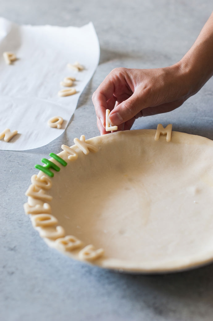 Alphabet Pie Crust Recipe & Tutorial