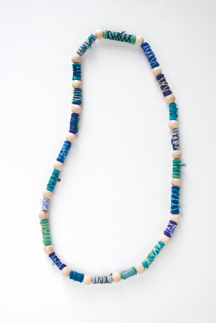 DIY Felt Beaded Necklace