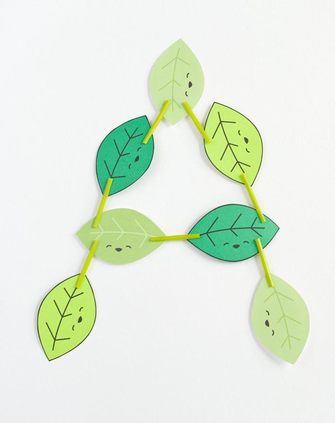 Paper Leaf Stacking Game