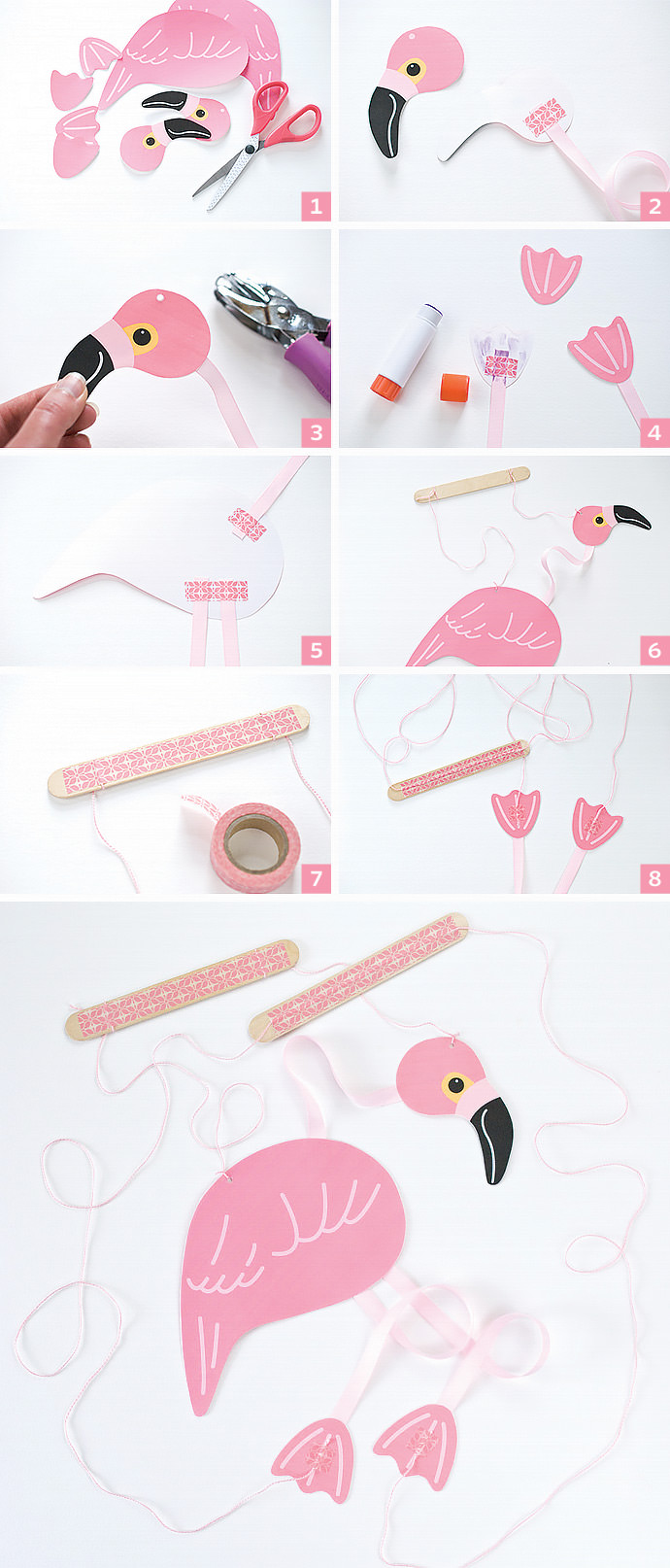 Make A Pink Flamingo Marionette