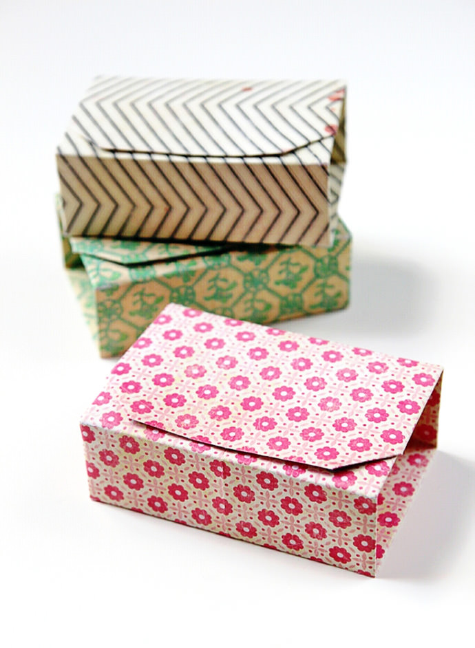 DIY Origami Boxes, tutorial via Gathering Beauty