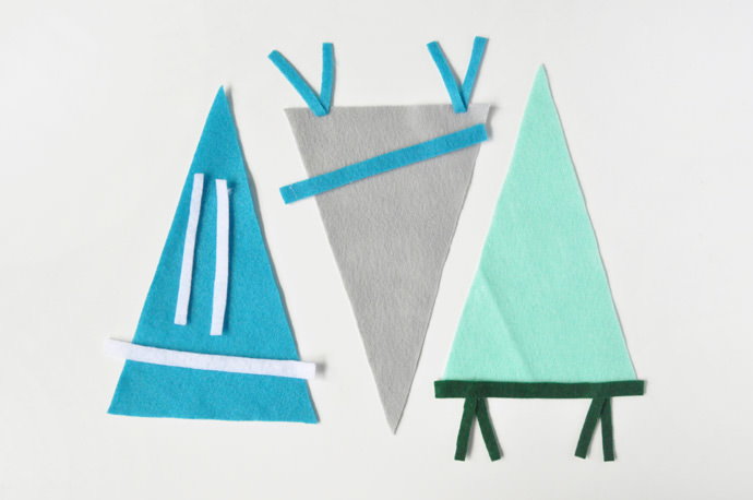 DIY Father's Day Felt Pennants