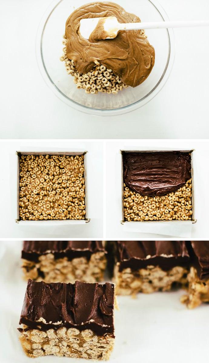 No Bake Cereal Bars Recipe
