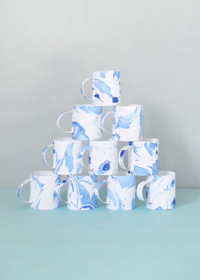 DIY Father's Day Paper Mugs