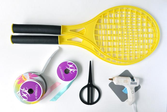 DIY Tennis Racquet Decor