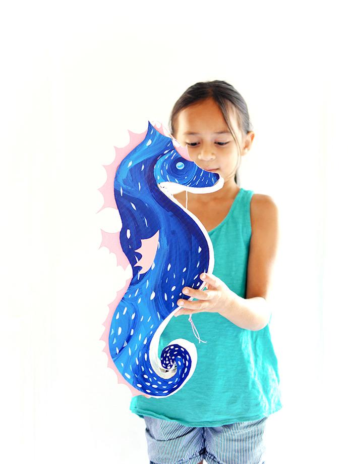 DIY Seahorse Pinata - Perfect for a kid's party!