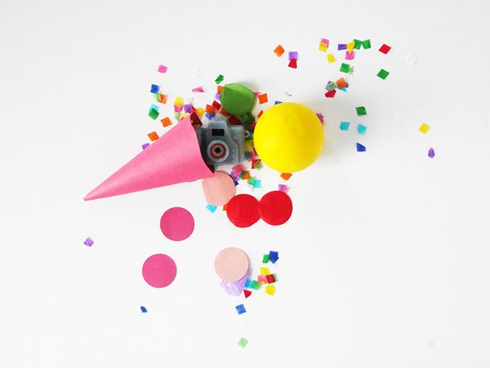 DIY Ice Cream Cone Party Favors