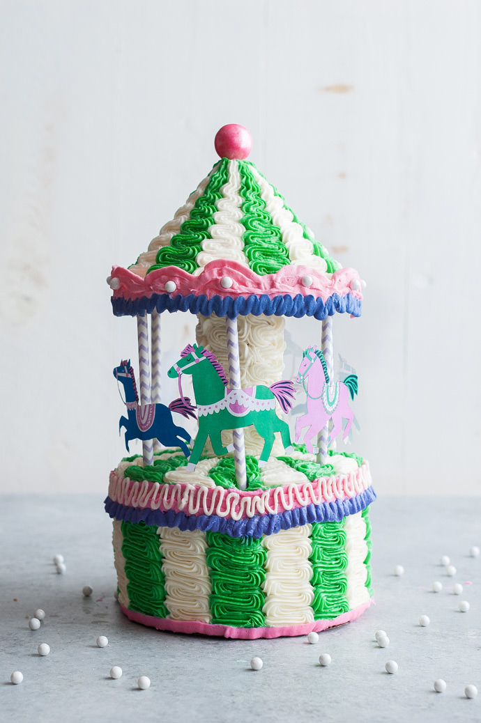 DIY Carousel Cake Tutorial and Recipe