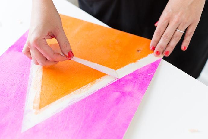 DIY Dyed Wall Weavings