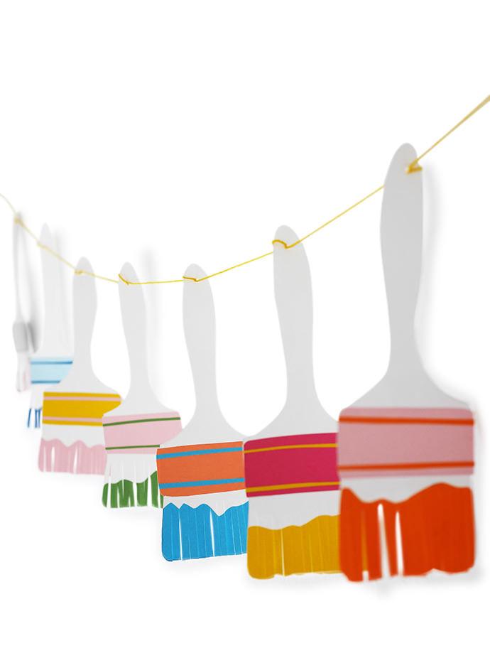 DIY Paper Paintbrush Garland
