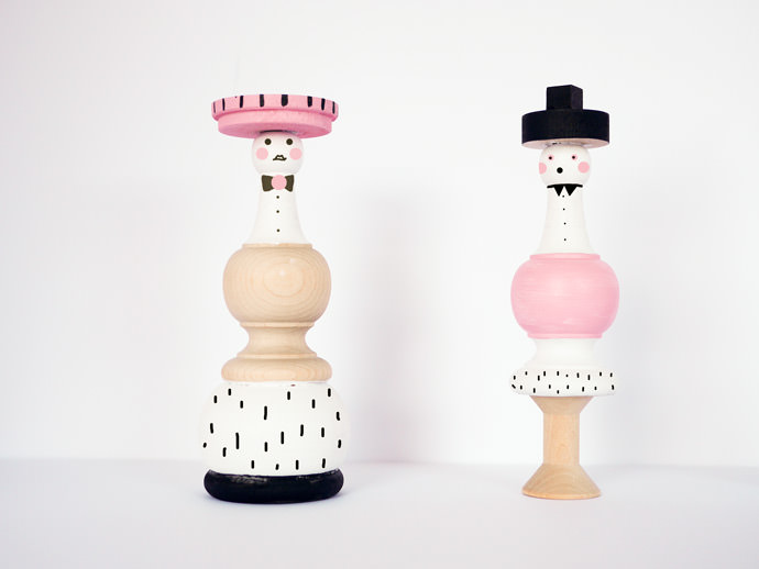 DIY Wood Spindle Dolls