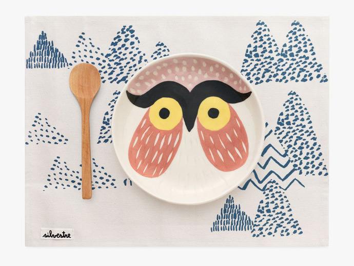 Owl Ceramic Dinnerware Set for Kids