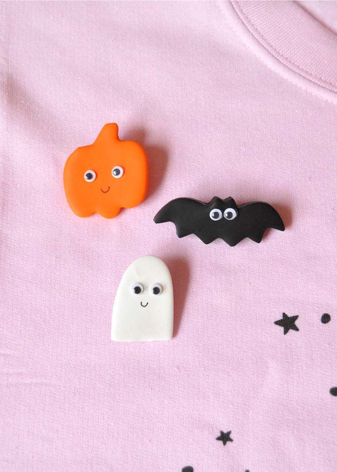 DIY Clay Halloween Pins