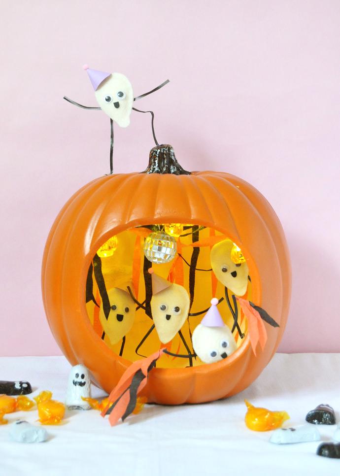 DIY Pumpkin Seed Party Diorama