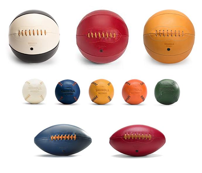 Shinola Handmade Leather Balls
