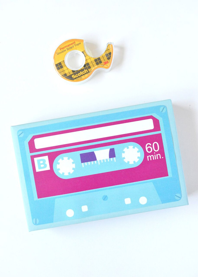 DIY Cassette Tape Gift Wrap