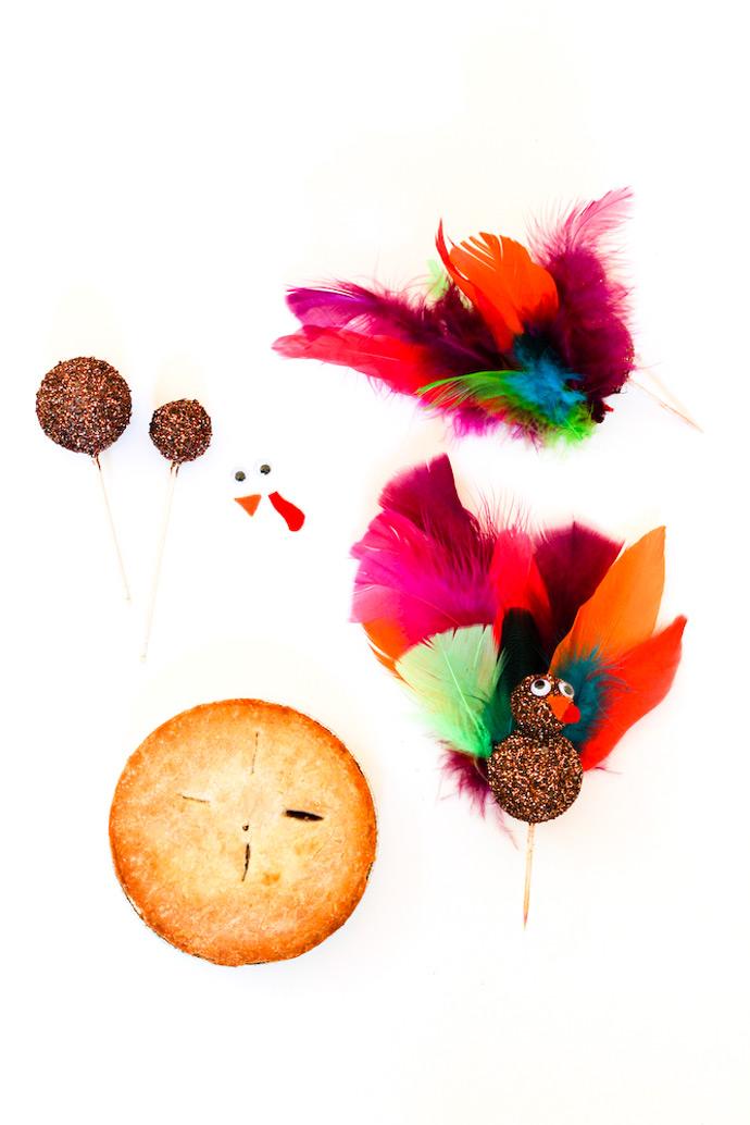 DIY Turkey Pie Toppers