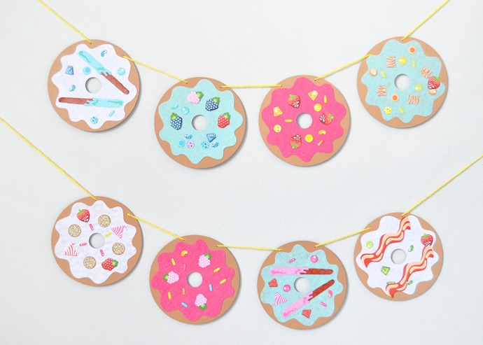 DIY Donut Shop Garland