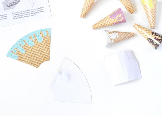 DIY Ice Cream Chandelier