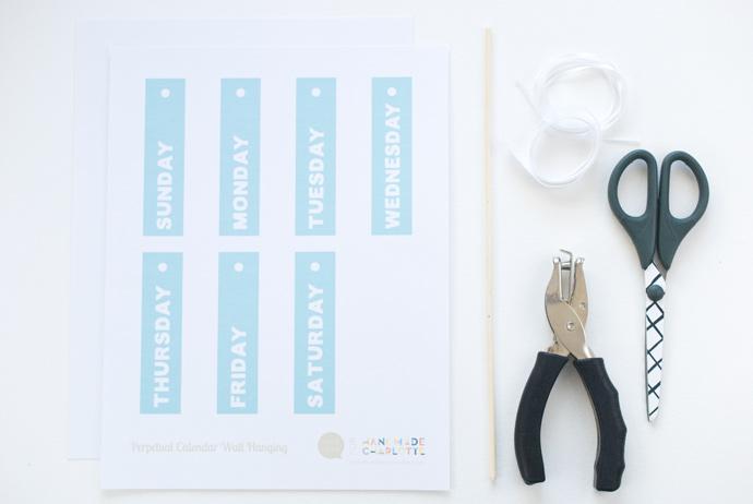 DIY Printable Perpetual Calendar