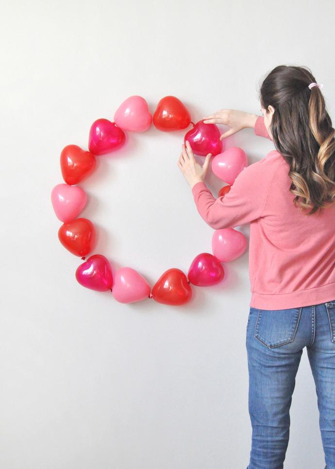 Valentine's Day Balloon Wreath