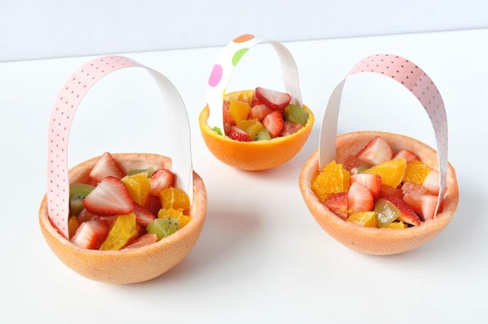 Easter Brunch Citrus Baskets