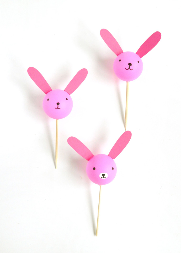 Ping Pong Bunny Cupcake Toppers