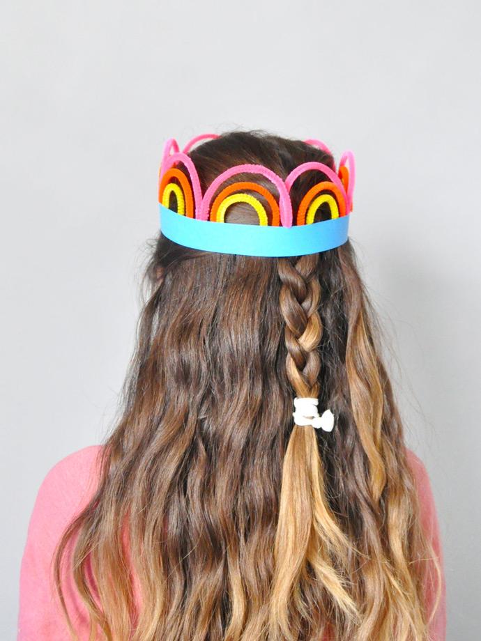 St Patrick's Day Rainbow Crowns