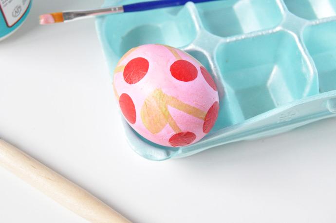 Decoupage Fruit Easter Eggs