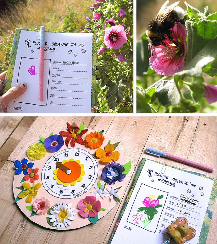DIY Floral Toy Clock