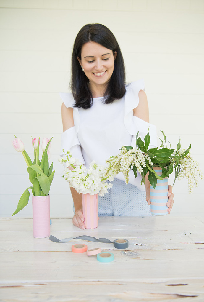 DIY Recycled Can Vases