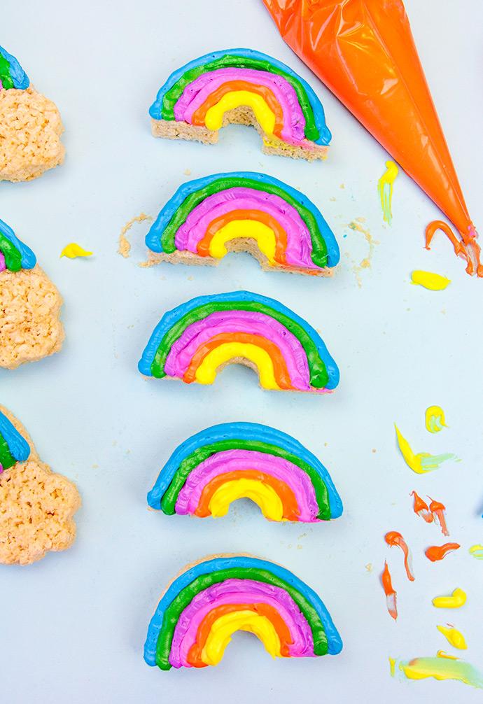 DIY Happy Rainbow Rice Krispie Treats