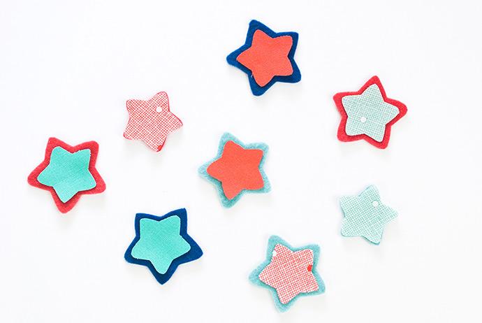 Smiling Star Felt Magnets