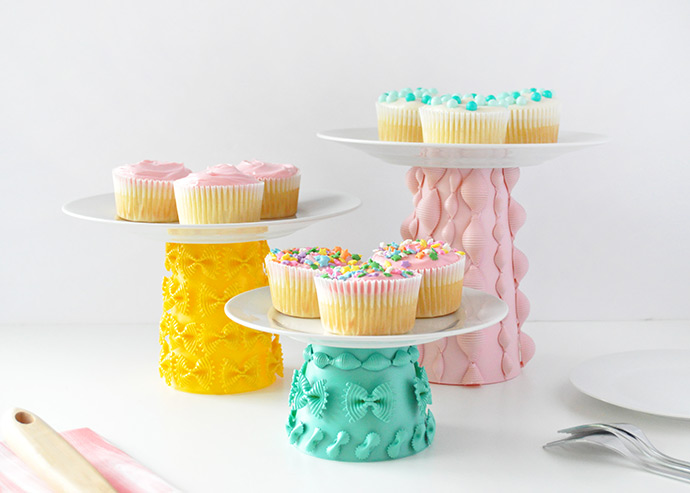 Painted Pasta Cake Stands