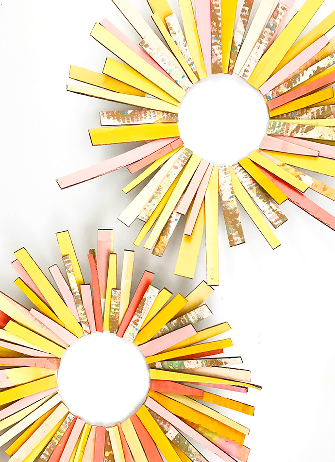 DIY Sun Ray Wreath