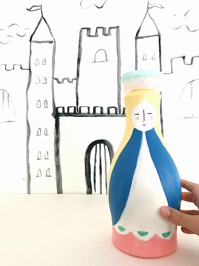 Upcycled Almond Milk Bottle Dolls