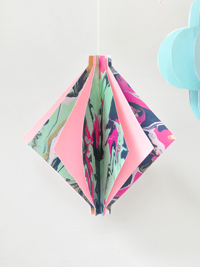 DIY Marbled Paper Lanterns