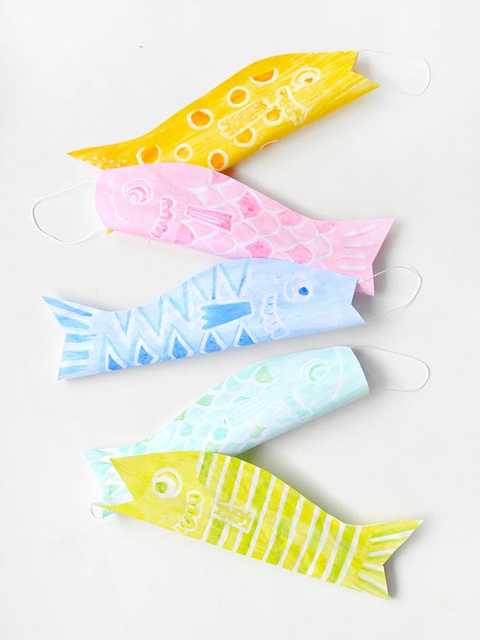 Watercolor Japanese Windsocks