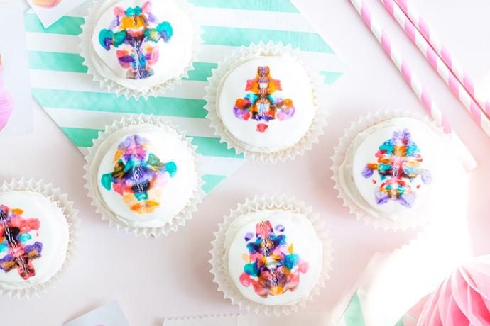 Inkblot Cupcakes