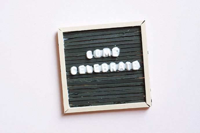 Mini Letter Board Invitations