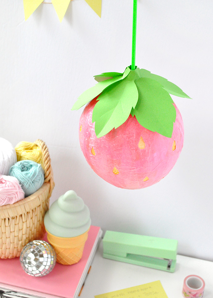 Mod Podge Strawberry Lantern