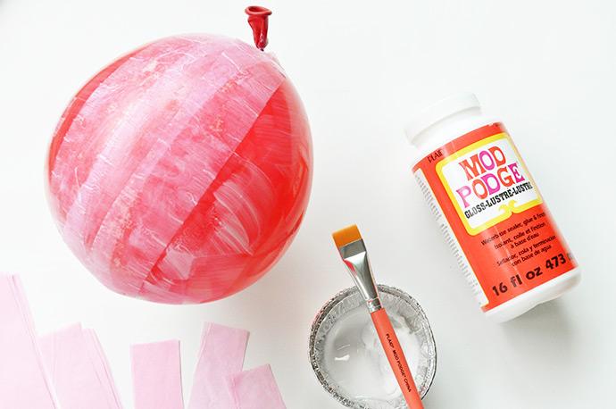 Mod Podge Strawberry Lantern