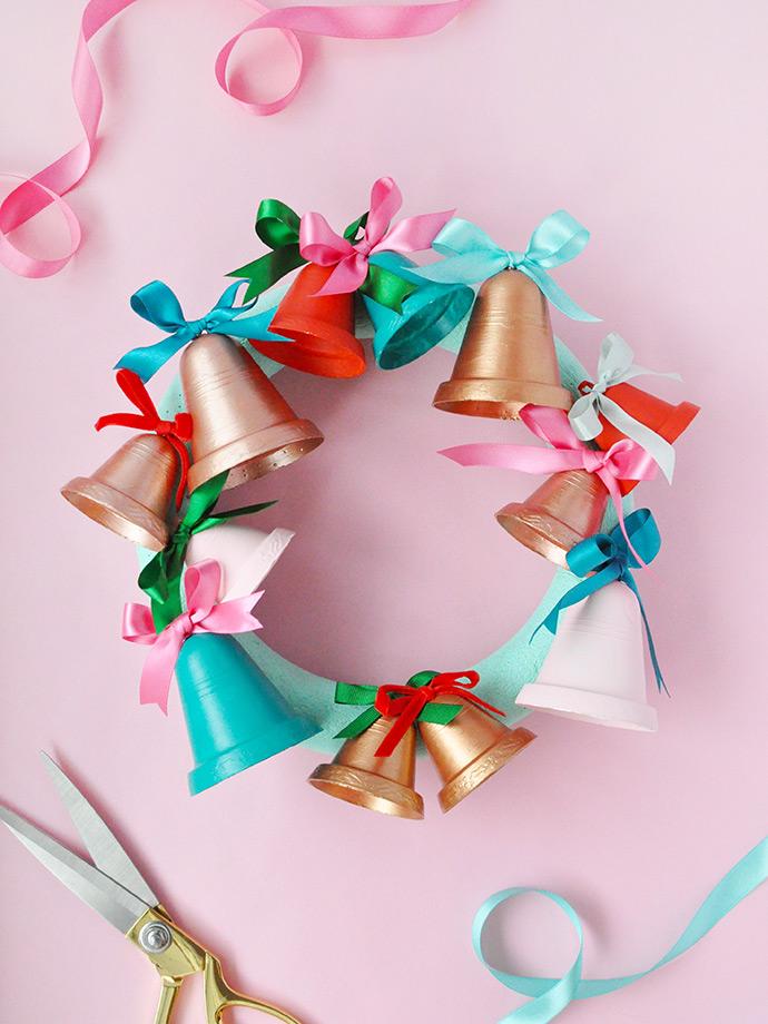 Painted Jingle Bell Wreath Handmade Charlotte