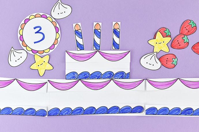 Printable Birthday Cake Crown