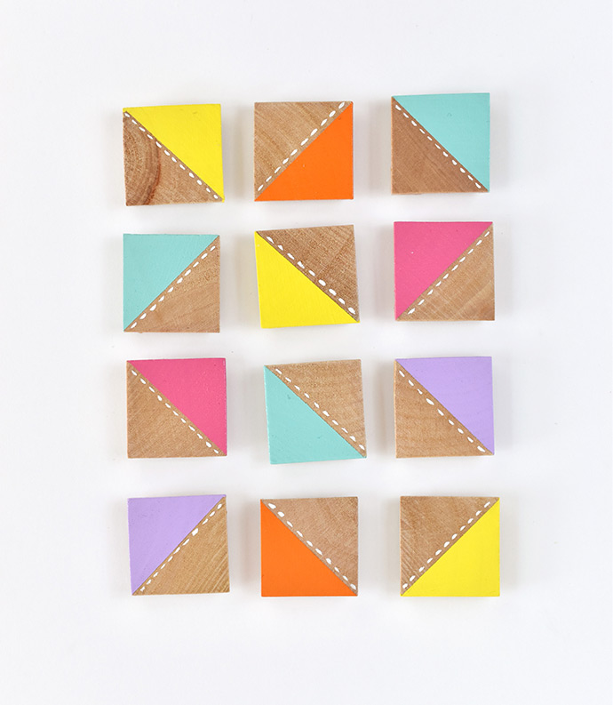 Design-a-Quilt Painted Magnets