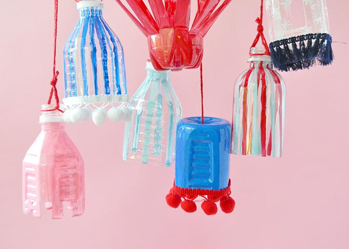 Recyclable Plastic Bottle Lanterns