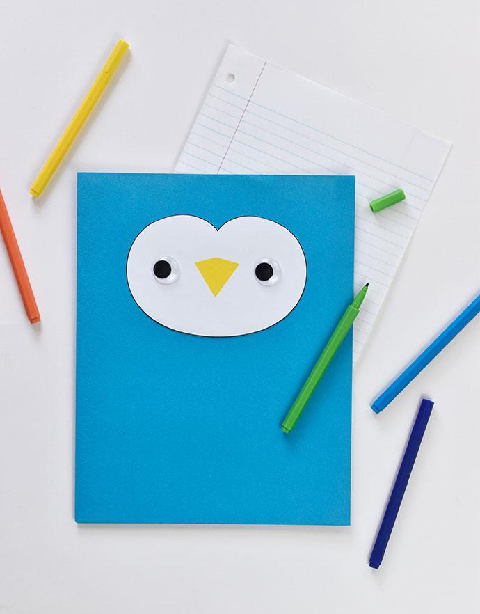 Animal Face Pocket Folders