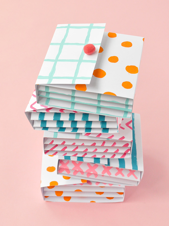 Painted Paper Pockets