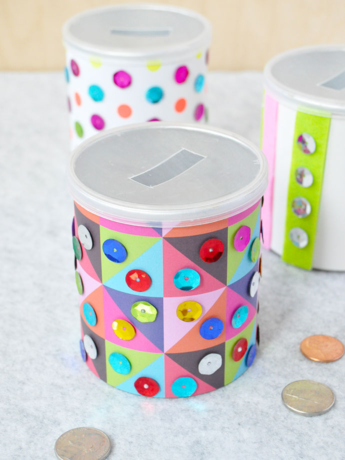 Sequin Piggy Banks